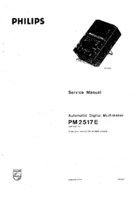 Cirquit Diagram Philips PM 2517E
