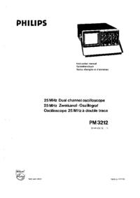 Servicio y Manual del usuario Philips PM 3212