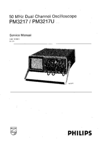 Service Manual Philips PM3217U