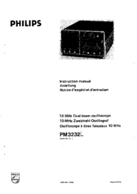 Обслуживание и Руководство пользователя Philips PM3232