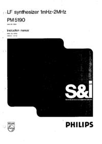 Service- und Bedienungsanleitung Philips PM 5190