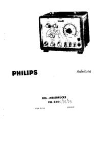 Service-en gebruikershandleiding Philips PM 6301