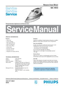 Руководство по техническому обслуживанию Philips Elixir GC 4033