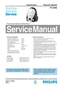 Service Manual Philips Impact-plus FC 8382