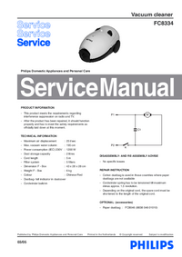 Manual de servicio Philips FC8334