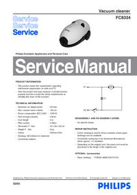 Manuale di servizio Philips FC8334