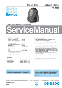 Service Manual Philips Impact-plus FC 8380