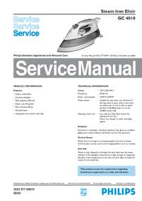 Manual de servicio Philips Elixir GC 4010