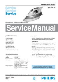 Service Manual Philips Elixir GC 4028
