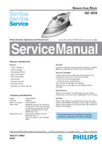 Service Manual Philips Elixir GC 4030