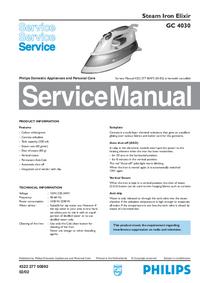 Servicehandboek Philips Elixir GC 4030