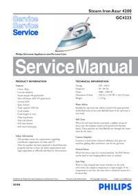 Servicehandboek Philips Azur 4200 GC4223
