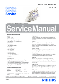 Service Manual Philips Azur 4200 GC4238