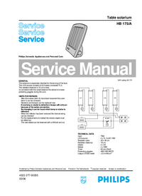 Service Manual Philips HB 175/A