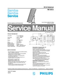Manuale di servizio Philips HB 544/A