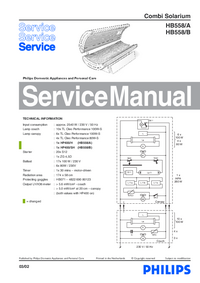 Service Manual Philips HB558/B