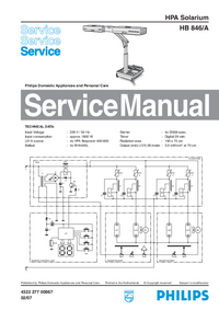 Service Manual Philips HB 846/A