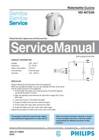 Servicehandboek Philips Cucina HD 4673/26
