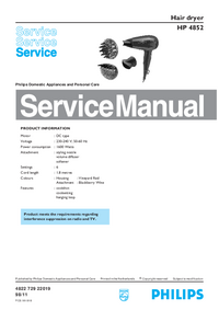 Service Manual Philips HP 4852