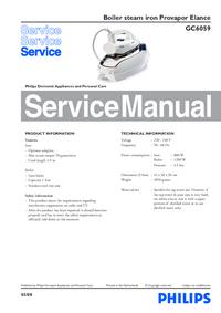 Service Manual Philips Provapor Elance GC6059