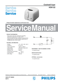Servicehandboek Philips HD6122