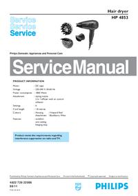 Manual de servicio Philips HP 4853