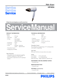 Service Manual Philips HP4856