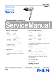 Manuale di servizio Philips HP4856