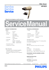 Servicehandboek Philips HP4859