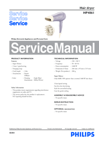 Service Manual Philips HP4861
