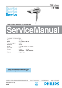 Service Manual Philips HP 4863