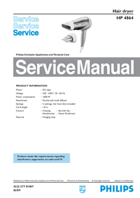 Manual de servicio Philips HP 4864