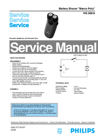 Manual de servicio Philips Marco Polo HQ 302/A