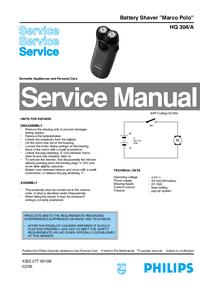 Servicehandboek Philips Marco Polo HQ 304/A