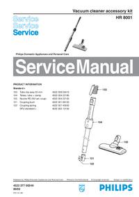 manuel de réparation Philips HR 8001