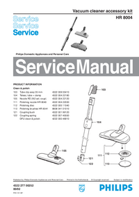 Service Manual Philips HR 8004