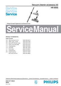 Service Manual Philips HR 8005