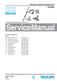 Manual de servicio Philips HR 8006