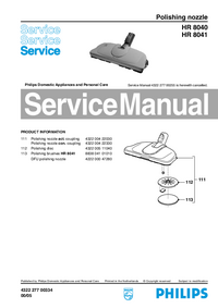 Service Manual Philips HR 8041