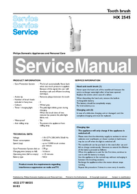 Service Manual Philips HX 2545