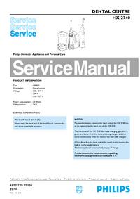 Servicehandboek Philips HX 2740