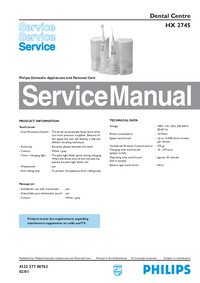 Service Manual Philips HX 2745