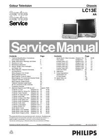 manuel de réparation Philips LC13E AA