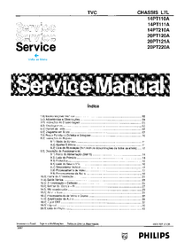 Service Manual Philips 14PT110A