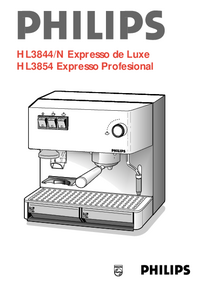 User Manual Philips HL3844/N Expresso de Luxe