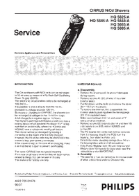 Service Manual Philips HQ 5825/A