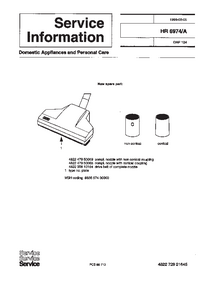 Service Manual Supplement Philips HR 6974/A