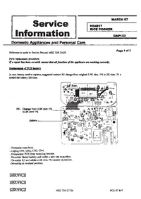Service Manual Supplement Philips HD 4517