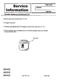 Service Manual Supplement Philips HD 4701