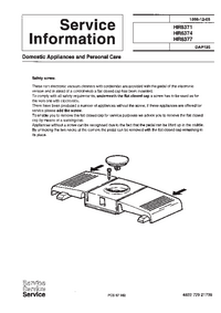 Service Manual Supplement Philips HR 6371